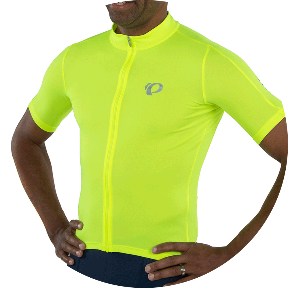 Pearl Izumi Men/'s SELECT Pursuit Full-length Zipper Jersey XS Yellow Reflective